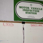 motor vehicle inspection station sign